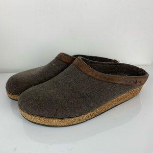 Haflinger Germany suede wool slip on shoes 41